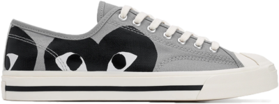 Converse Jack Purcell Comme Des Garcons PLAY Grey Black 171259C