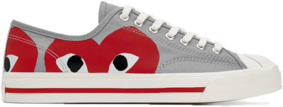Converse Jack Purcell Comme Des Garcons PLAY Grey Red 171260C