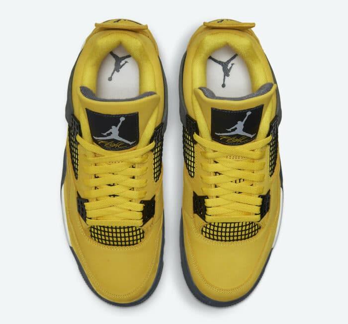 jordan 4 air yellow tour