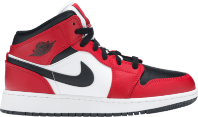 Air Jordan 1 Mid GS 'Chicago Black Toe' Red 554725-069-WECHAT-DS