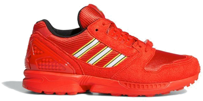"""Adidas ZX 8000 X LEGO """"Active Red"""" FY7084"""