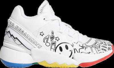 adidas D.O.N. Issue #2 Little Kids 'Determination Over Negativity' White G57972
