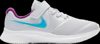 Nike Star Runner 2 Power PS 'Pure Platinum Iridescent Swoosh' Grey DD5889-001
