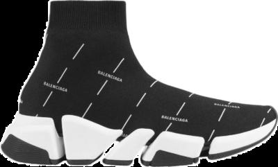 Balenciaga Speed 2.0 Black White Logo 645421W2DBT1090