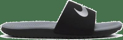Nike Kawa Slide Black Metallic Silver (GS/PS) 819352-009