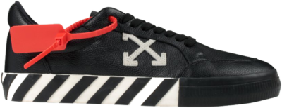 OFF-WHITE Vulc Low Black Leather FW19 OMIA085f19D680011001