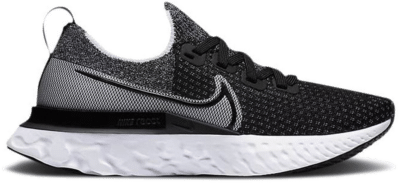 Nike React Infinity Run Flyknit Black White (W) CD4372-012