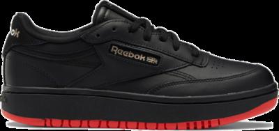 Reebok Cardi Coated Club C Double Schoenen Core Black / Vector Red / Rose Gold H01270