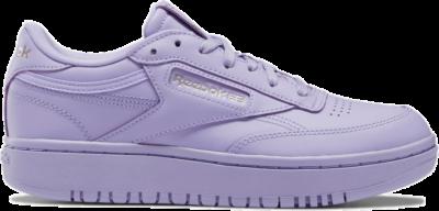 Reebok Cardi Coated Club C Double Schoenen Crisp Purple / Crisp Purple / Quartz Met H01271