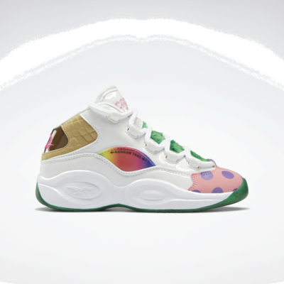 Reebok Candy Land Question Mid White / Pixie Pink / Goal Green GZ0082