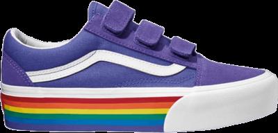 Vans Old Skool V Platform 'Rainbow' Purple VN0A45K2VS3