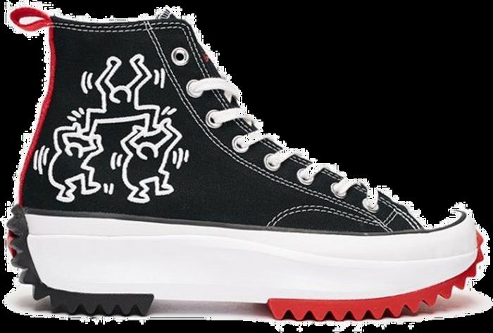 "Converse x KEITH HARING RUN STAR HIKE HI ""BLACK"" 171859C"