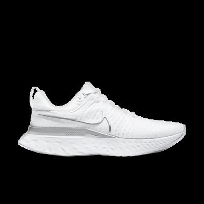 Nike Wmns React Infinity Run Flyknit 2 'White Metallic Silver' White CT2423-102