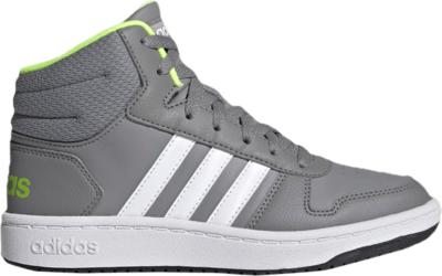 adidas Hoops 2.0 Mid J 'Grey Volt' Grey FY7010
