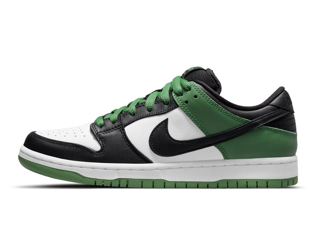 Nike deelt de officiële foto's van de Nike SB Dunk Low 'Classic Green' met de wereld