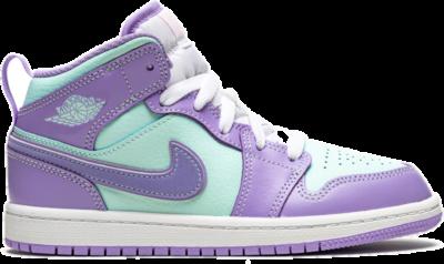 Jordan 1 Mid Purple Aqua (PS) 640734-500