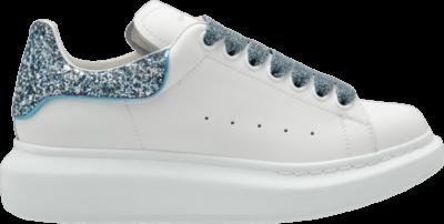 Alexander McQueen Wmns Oversized Sneaker 'White Galaxy Blue' White 558945-WHNBK-9123