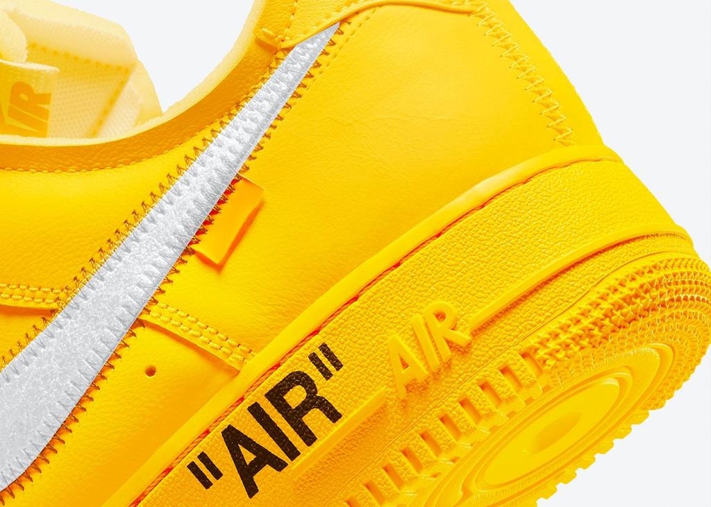 Nike brengt officiele foto's naar buiten van de Nike Air Force 1 x Off-White 'University Gold'