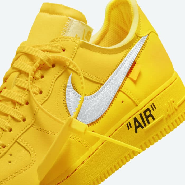 off white air force 1 university gold