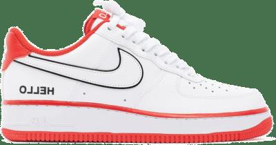 "Nike AIR FORCE 1 '07 LX ""HELLO"" CZ0327-100"