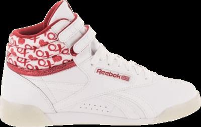 Reebok Freestyle Hi Kids 'Hearts' Red CM9189