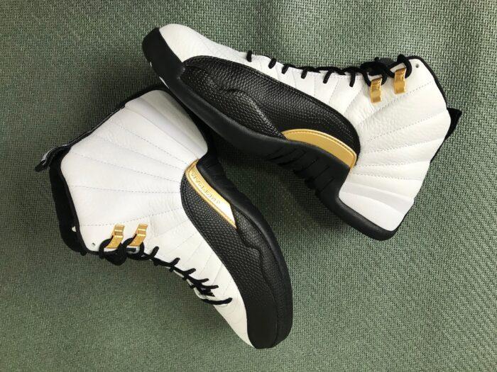 jordan gold white black 12