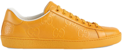 Gucci Ace GG Embossed Yellow 625787 1XK10 7636