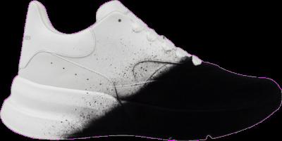 Alexander McQueen Oversized Runner 'White Black Spray' Black 575426-WHWM1-9034