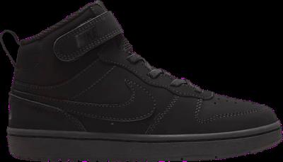 Nike Court Borough Mid 2 PS 'Triple Black' Black CW5868-001