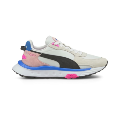 Women's PUMA Wild Rider Rollin' Sneakers, Pink White,Pink Lady 381517_06
