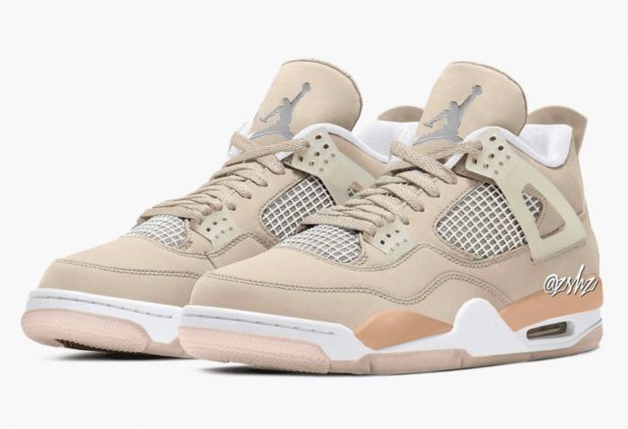 shimmer Jordan Nike Air 4 mock up