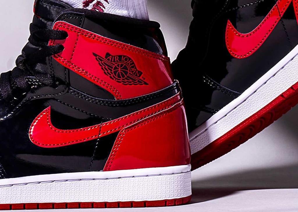 Air Jordan 1 High OG 'Bred Patent' on-feet foto's opgedoken