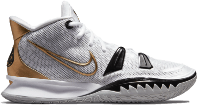 Nike Kyrie 7 White/Metallic Gold-Black-Grey Fog grey CQ9326-101