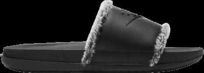 Nike Wmns OffCourt Leather Slide 'Black Fur' Black CV7964-001