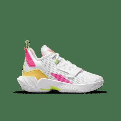 Jordan Why Not Zer0.4 GS White/Citron Pulse-Hyper Pink-Lime Glow Array CQ9430-102