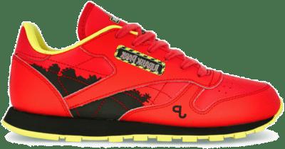 Reebok Jurassic Park Classic Leather Schoenen Radiant Red / Coal / Blaze Yellow GY0572