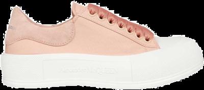 Alexander McQueen Deck Skate Plimsoll Lace-Up Magnolia (W) 654593 W4PQ1 9297