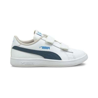 PUMA Smash V2 Leather Kids' s, White/Intense Blue White,Intense Blue 365173_30