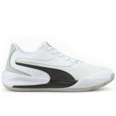 Men's PUMA Triple Basketball Shoe Sneakers, White/Black White,Black 195217_06