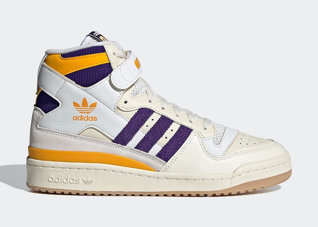 Terug naar de jaren '80 met de adidas Forum 84 High 'Lakers'