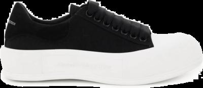 Alexander McQueen Deck Skate Plimsoll Lace-Up Black (W) 654593W4MV71070
