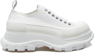 Alexander McQueen Tread Slick Low Lace Up White White (W) 611705W4MV29000