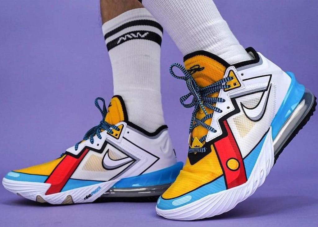 Wederom een cartooneske variant van de Nike LeBron 18 Low op komst