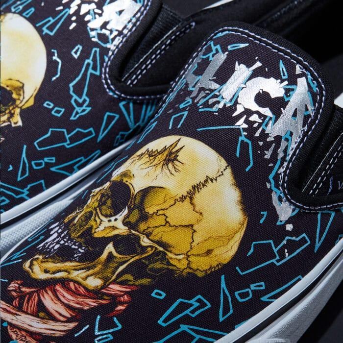 slip on vans metallica black album