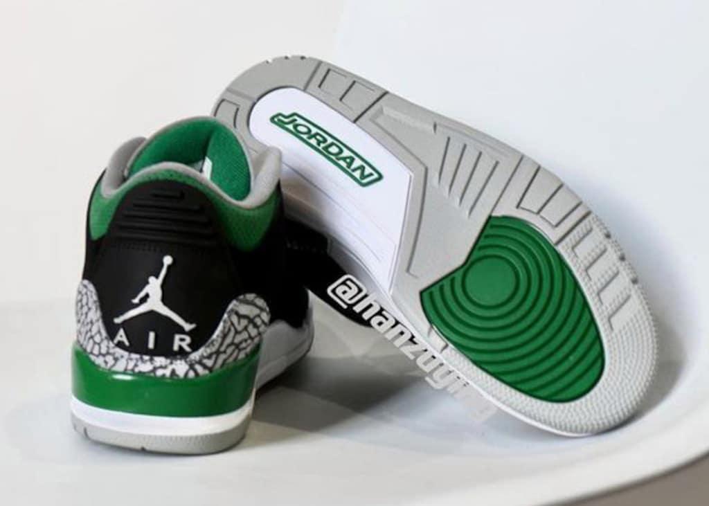 Eerste foto's gelekt van de nieuwe Air Jordan 3 colorway 'Pine Green'