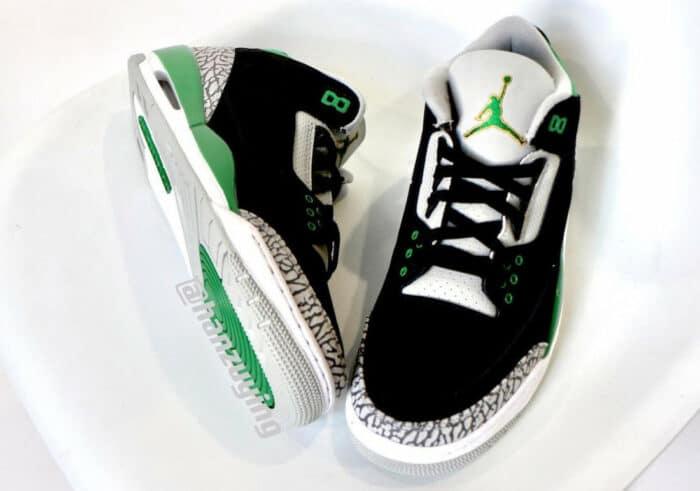 3 Air Jordan pine green
