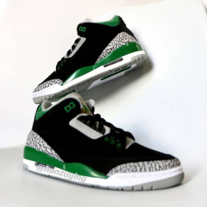 Air Jordan 3 pine green