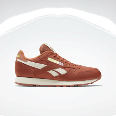 Reebok Classic Leather Schoenen Baked Earth / Classic White / Yellow Flare FY7546