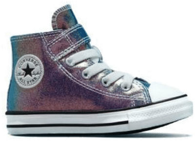 Iridescent Glitter Easy-On Chuck Taylor All Star teal/paars/zwart/wit 771589C