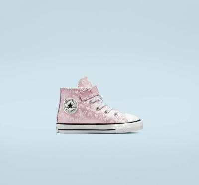 Stars & Rainbows Easy-On Chuck Taylor All Star pink foam/egret/wit 772476C